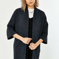 Silence + Noise Ribbed Drapey Jacket - Urban Outfitters