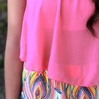 Summer Breeze Crop Top - Hot Pink