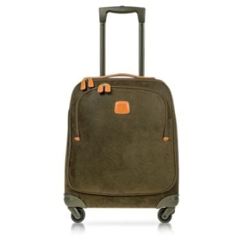 Bric's Designer Travel Bags Life Olive Green Micro Suede X-Small Trolley