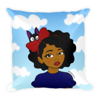 """Little Kiki"" Kiki's Delivery Service Inspired Throw Pillow"