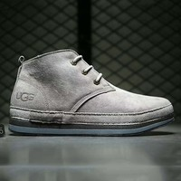 UGG Fashion boots for men shoes waterproof Martin boots Grey G-A0-HXYDXPF