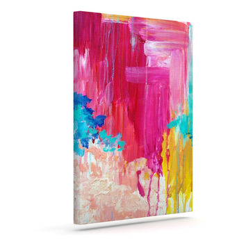 "Ebi Emporium ""Elated"" Multicolor Paint Canvas Art"