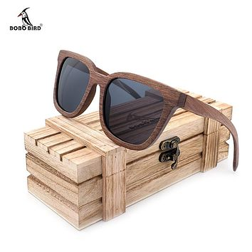 BOBO BIRD Vintage Sunglasses Men Wooden Sun Glasses Polarized Retro Ladies Eyewear UV400 in Wood Gift Box V-AG010