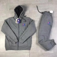 Champion Hooded Cardigan Jacket Coat Pants Trousers Set Two-Piece