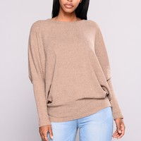 Stealing The Scene Oversized Sweater - Mocha