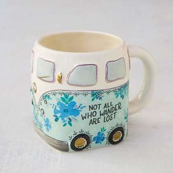 Not All Who Wander Van Folk Mug
