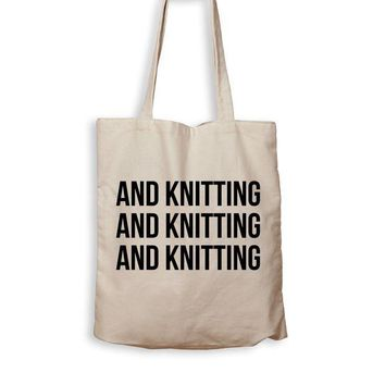 ac NOVO And Knitting And Knitting And Knitting - Tote Bag