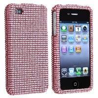 eForCity® MYBAT PINK Bling DIAMOND Cover Compatible With Apple® iPhone® 4 4G iPhone® 4S - AT&T, Sprint, Version 16GB 32GB 64GB CASE