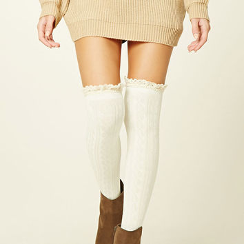 Over-The-Knee Ruffle Socks