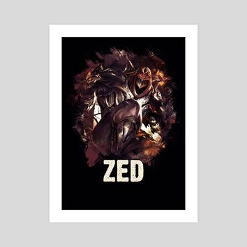 ZED - League of Legends, an art print by Dusan Naumovski