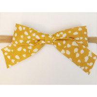 School Girl Bow Headband, Golden Harper