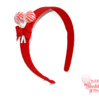 Red Lollipop Headband , Red Headband, Candy Headband, Flowergirl Accessory, Lollipop Wedding, Birthday, Edible Accessory, Red, Sweet 16