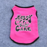 New Fashion Summer Cute Dog Pet Vest Puppy T Shirt English Words printing doggy cloth clothing dog Sportswear soccer jersey