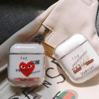 GUCCI & PLAY airpods personalized tide brand transparent hard shell cover