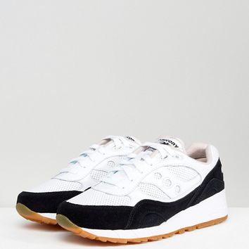 Saucony Shadow 6000 HT Perforated Trainers In White S70349-2 at asos.com
