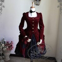 New Romantic, Rococo Lolita Victorian Long Sleeves Bustle Jacket*2colors Instant Shipping