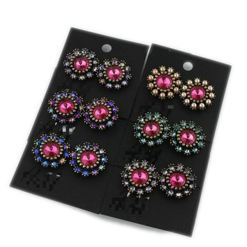 Europe and America jewelry retro flowers ear studs fashion wild tide earrings female earrings hot explosions jewelry special offer FO