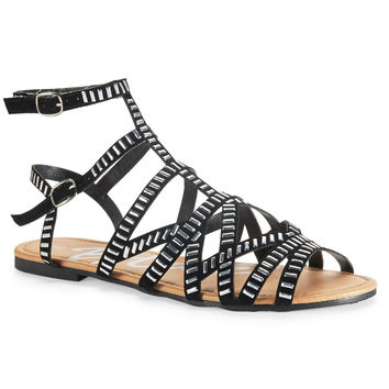 Aeropostale Womens Studded Sandals
