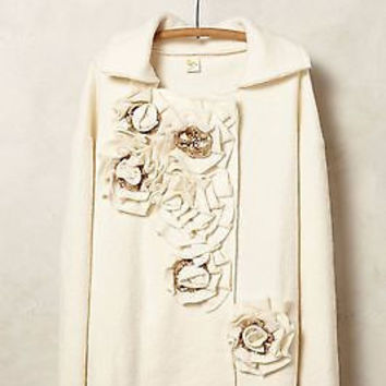 NWT Anthropologie Garden Party Boiled Wool Jacket Sz S (M,L) - By Moth -Runs Big