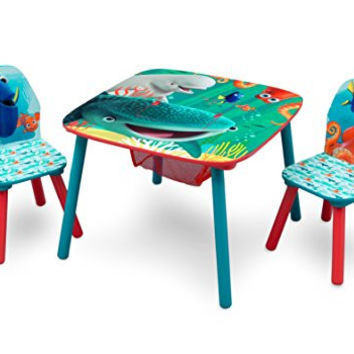 Delta Children Table and Chair Set With Storage, Disney/Pixar Finding Dory