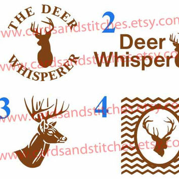 Deer Decals - Deer Iron-on Transfer (Glitter or Mat) - Deer Whisperer - Bumper Stickers, Computer Decals, Iron-on Transfer for Shirts