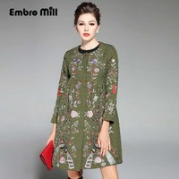 Casual-womens-clothing autumn & winter new arrival  royal embroidery elegant women trench coat plus size ladies coat S-XXL