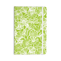 """Jacqueline Milton """"Vine Shadow - Lime"""" Green Floral Everything Notebook"""