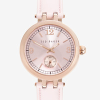 Round face watch - Pink | Luxury Gifts | Ted Baker