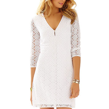 Lilly Pulitzer Lamora Long Sleeve Lace Tunic Dress