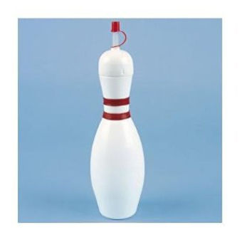 Fun Express - 12 bowling pin sipper cups w/straws - Water Bottles