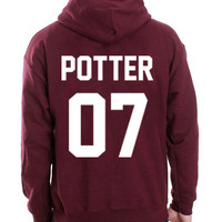 Harry Potter Hoodie Harry Potter 07 Hooded Sweatshirt Logo Black White Gray Red Maroon Unisex Hoodie Tee S,M,L,XL #1