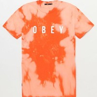 DCCKJH6 OBEY Anyway Bleach Tie-Dyed T-Shirt