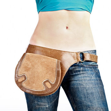 Tan leather bags for women leather cross body by Shovavaleather
