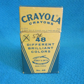 Vintage Crayola Crayons 48 Color  No. 48