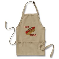 APRON CHEFS APRON FOR HOT DOG KHAKI