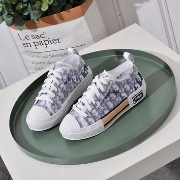 Dior Women Fashion Print Sport Sneakers Shoes