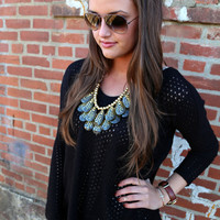 Black Piko Knit