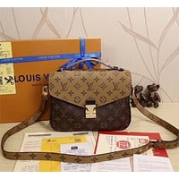 Tagre™ One-nice™ LV Louis Vuitton Women Shopping Leather Satchel Shoulder Bag Handbag Crossbody
