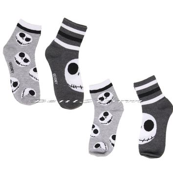 Licensed cool Disney The Nightmare Before Christmas Jack Skellington Varsity Socks  2 Pair