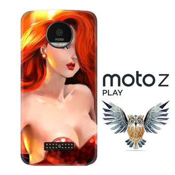jessica rabbit Z1527 Motorola Moto Z Play Case