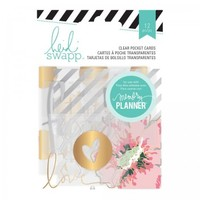"Heidi Swapp Hello Beautiful Clear 2""x2"" & 3""x3"" Pocket Cards with Foil 369959"