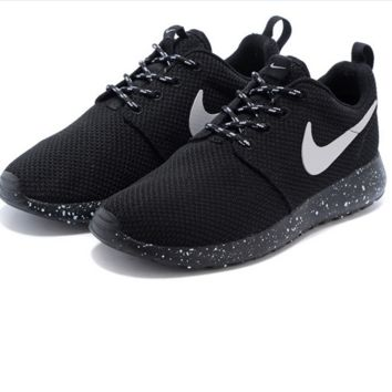 NIKE Women Men Running Roshe Sport Casual Shoes Sneakers Black w 9cf78d046