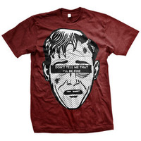 Neck Deep: Don't Tell Me T-Shirt (Maroon)