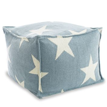 Fresh American Star Swedish Blue Indoor/Outdoor Pouf