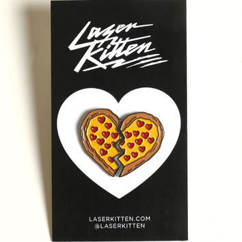 PIZZA BESTIES ENAMEL PIN SET