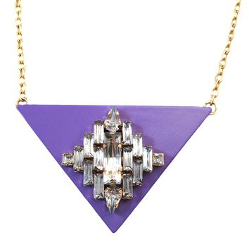 Triangle Jewel Lavender Necklace