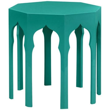 Moroccan Side Table | Aruba Blue