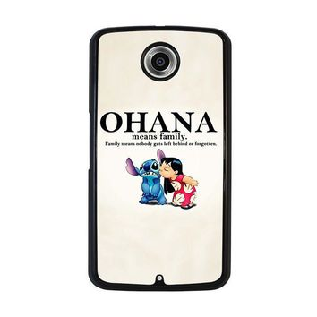 lilo and stitch ohana family disney nexus 6 case cover  number 1