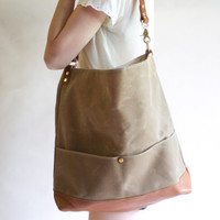 Waxed Canvas Single Strap Tote