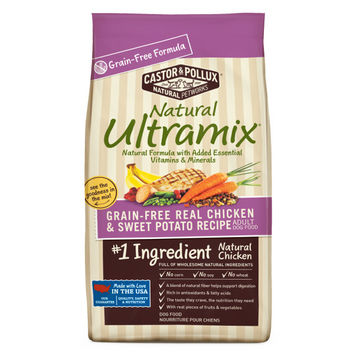Castor and Pollux Natural Ultramix Adult Dog Food Grain Free Chicken and Sweet Potato -1x25 LB-